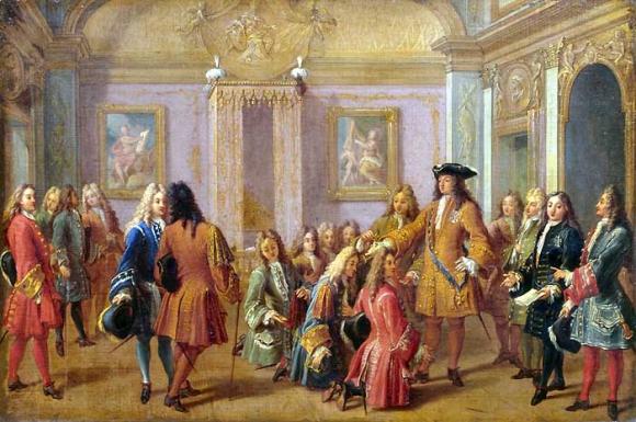 François Marot, Première promotion des chevaliers de l'ordre de Saint‑Louis par Louis XIV à Versailles le 10 mai 1693, 1710. Versailles, musée national des châteaux de Versailles et de Trianon, MV 2149. Credit : Chateau de Versaille