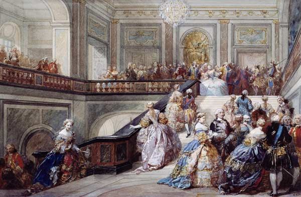Fete at the Chateau de Versailles on the occasion of the Marriage of the Dauphin in 1745 - Eugène Louis Lami