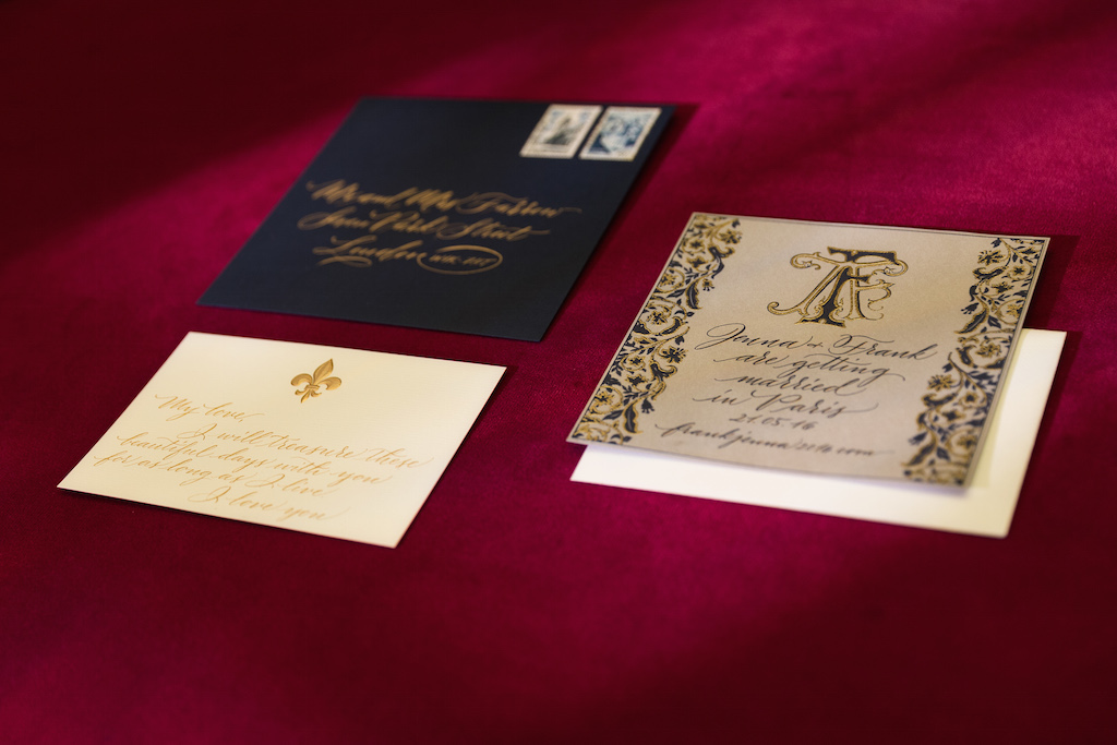 wedding calligraphy paris