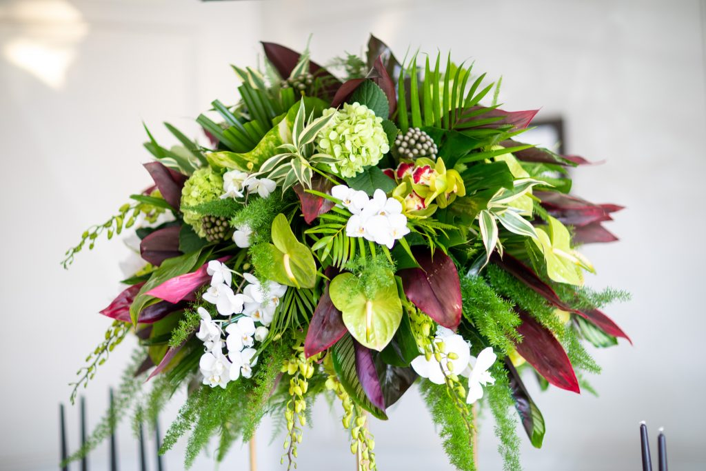 bouquet of exotic flowers used in one of my luxurious wedding that I planned