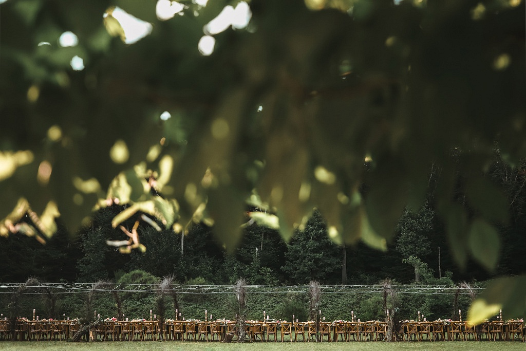 luxury lebenase dinner in a forest