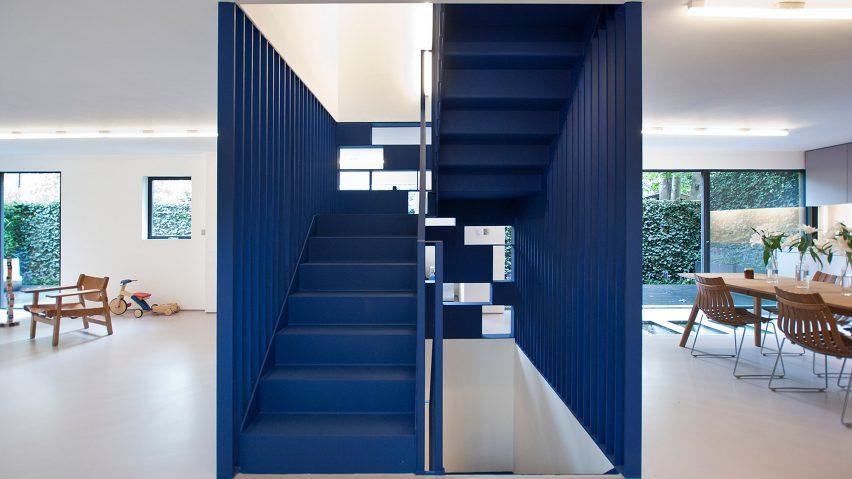 Interior design with classic blue pantone