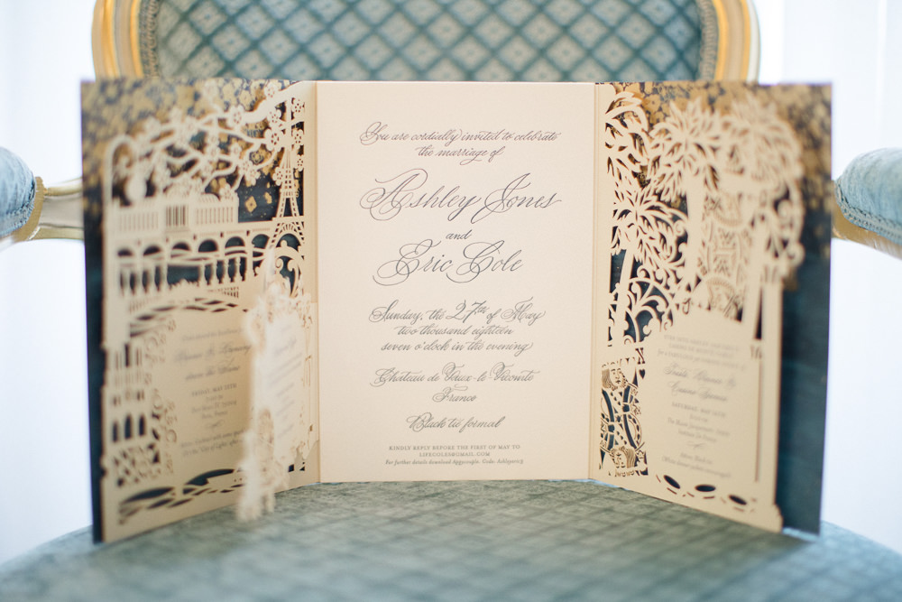 Custom made wedding invitation - luxury events in Paris