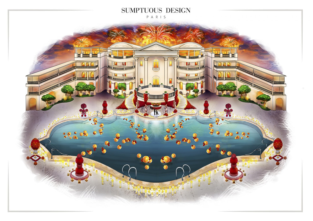 Luxury event design sketch