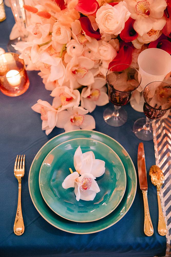 Luxury wedding table setup