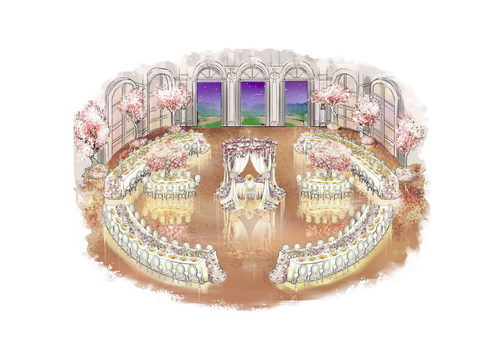 Wedding design created by luxury event planner Jean-Charles Vaneck - Sumptuous Events