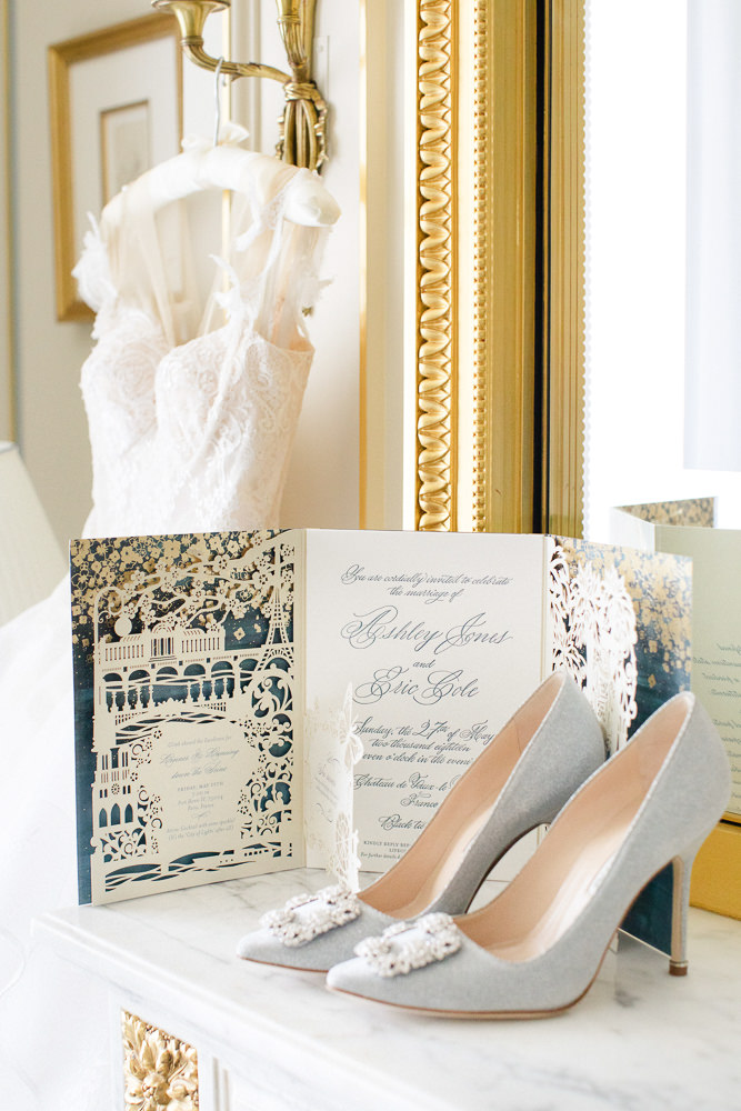 Wedding invitation - wedding stationery at luxury event in France