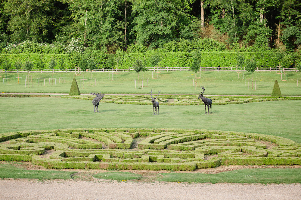Garden design in French chateau