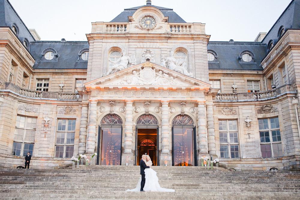 Wedding photos at Chateau Vaux le Vicomte near Paris, France