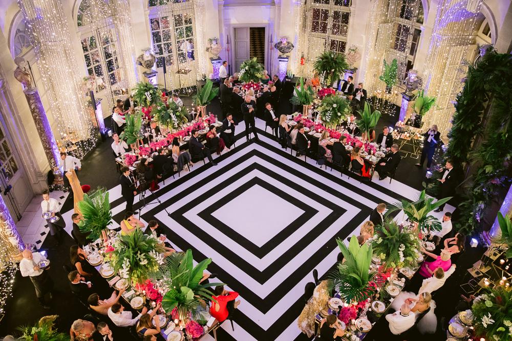 Vaux le Vicomte wedding reception planned by Sumptuous Events