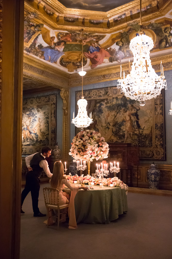 Private luxury event at Vaux le Vicomte, an exquisite French chateau